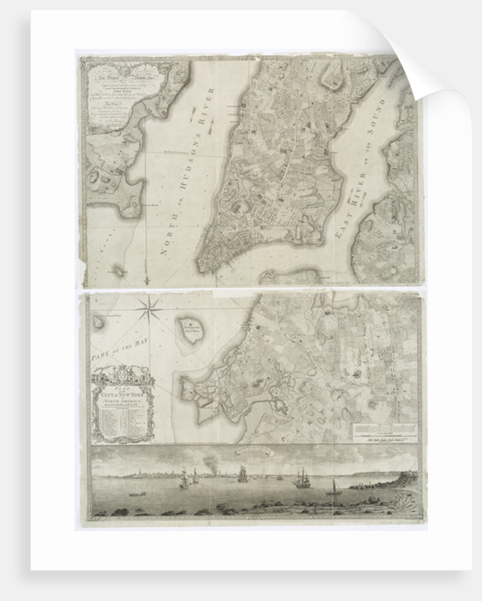 Plan of the city of New York in North America surveyed in the years 1766 & 1767 published in Faden's Atlas by Theodore de