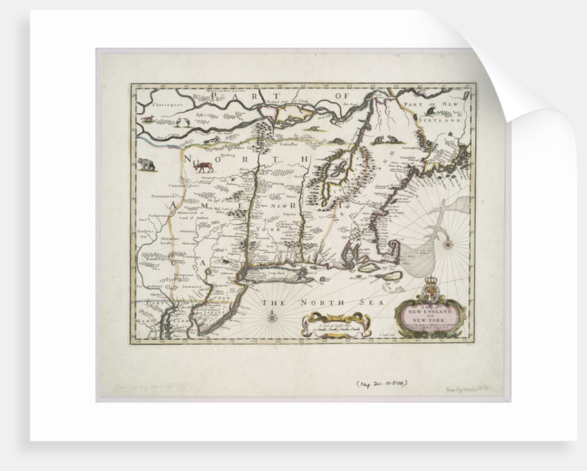 Map Of New York Poster.A Map Of New England And New York