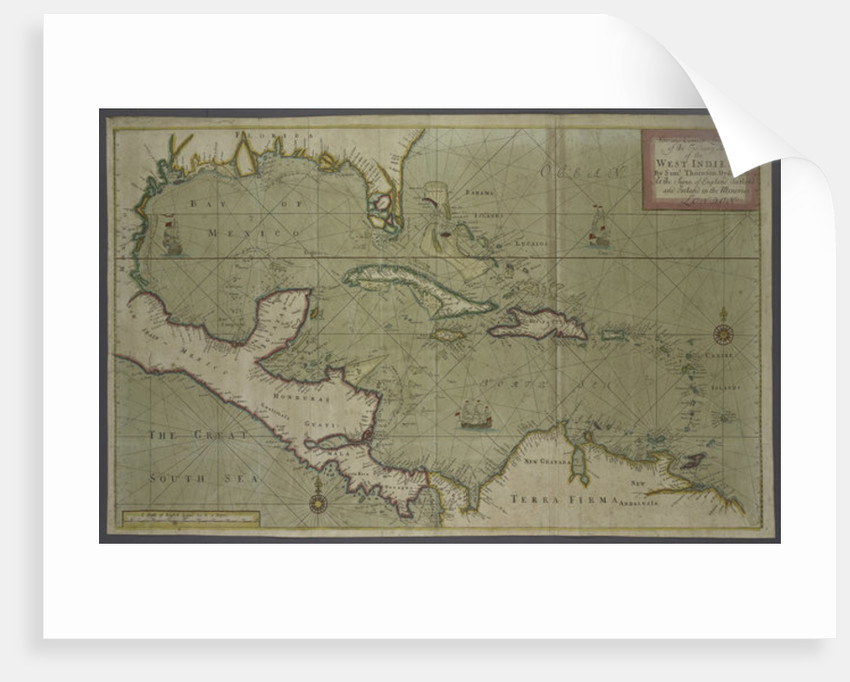 Trading map of the West Indies by English School