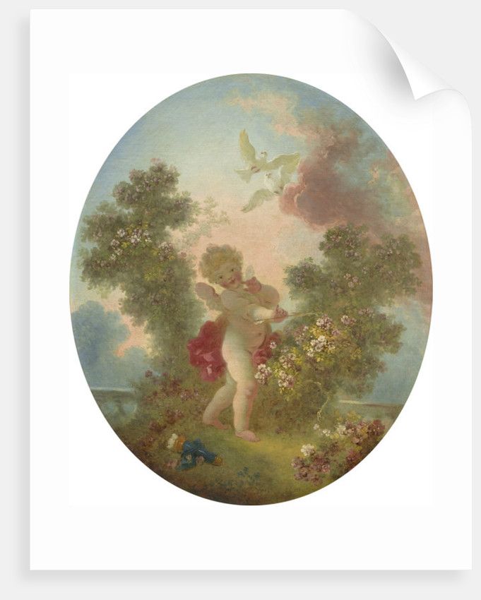 Love the Sentinel by Jean-Honore Fragonard