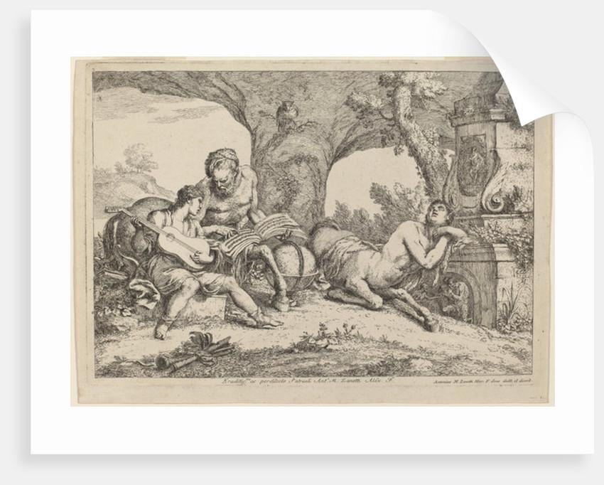Chiron Teaching Music to Achilles by Giovanni Benedetto Castiglione