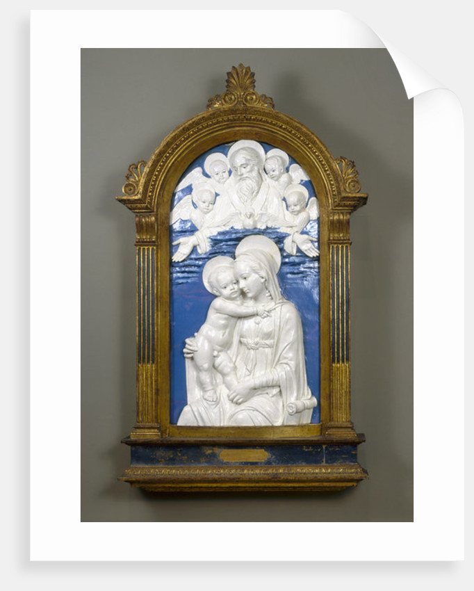 Madonna and Child with God the Father and Cherubim by Andrea Della Robbia