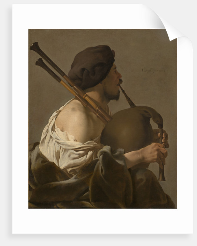 Bagpipe Player by Hendrick Ter Brugghen