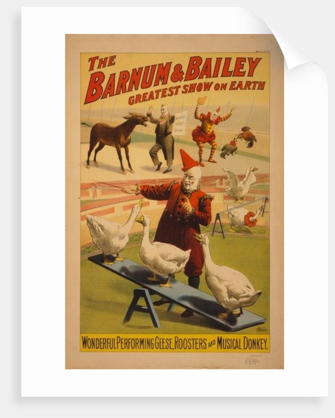 Barnum and Bailey Circus poster by Anonymous