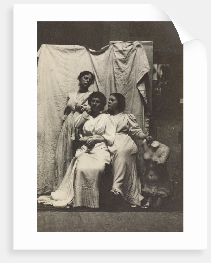 Cook Cousins in Classical Costume in Eakins's Chesnut Street Studio by Thomas Cowperthwait Eakins