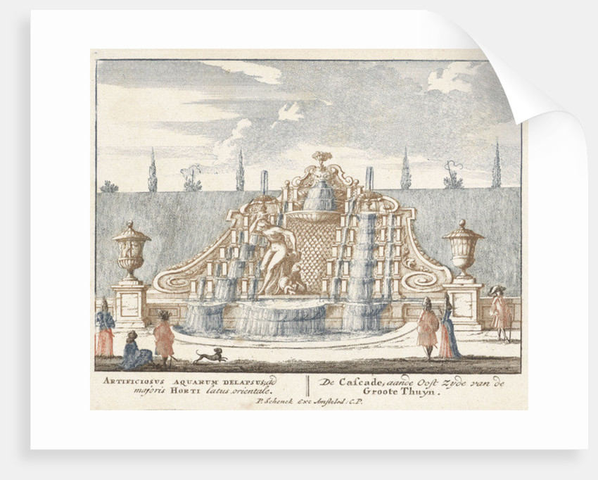 Fountain in the garden of Het Loo Palace by Jan I van Call