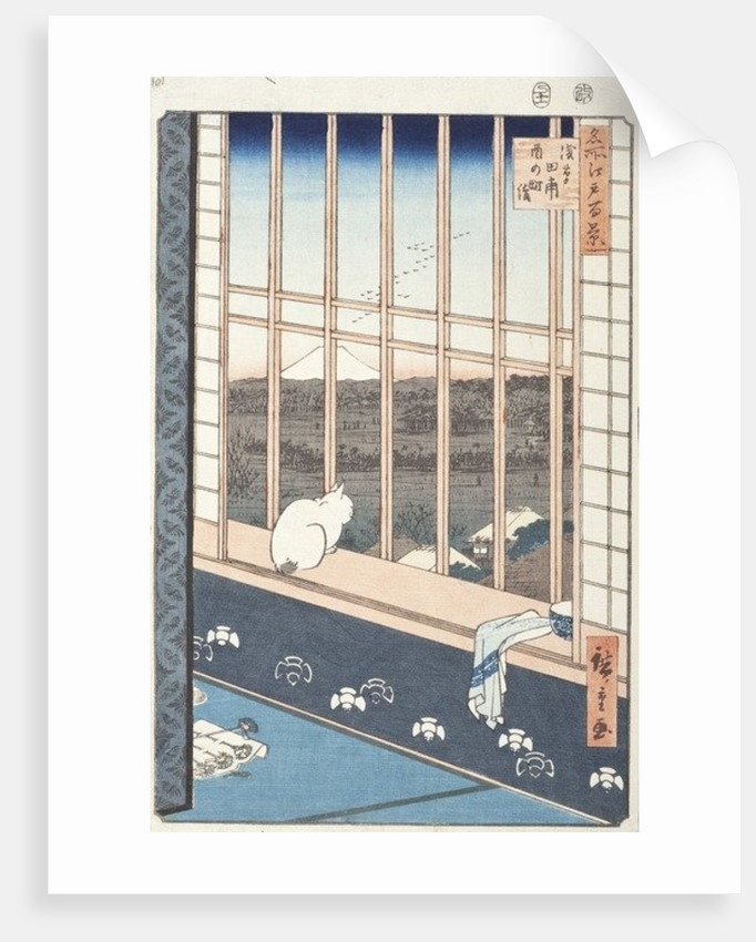 Asakusa Rice Fields and Festival of Torinomachi from the Series One Hundred Famous Views of Edo by Ando or Utagawa Hiroshige