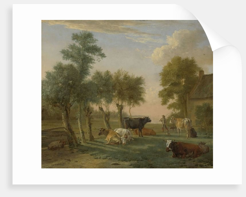 Cows in a Meadow near a Farm by Paulus Potter