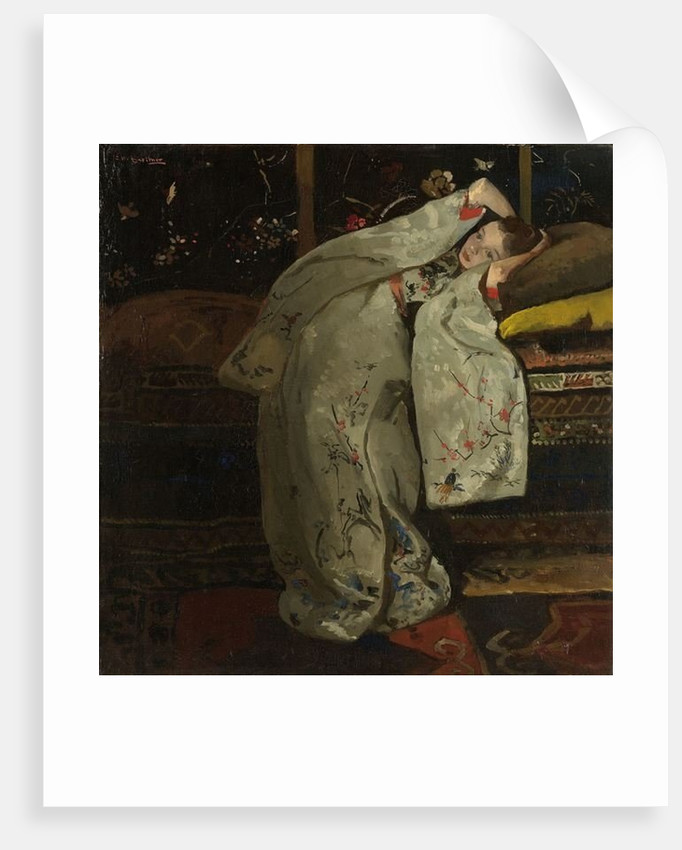 Girl in a White Kimono by Georg-Hendrik Breitner