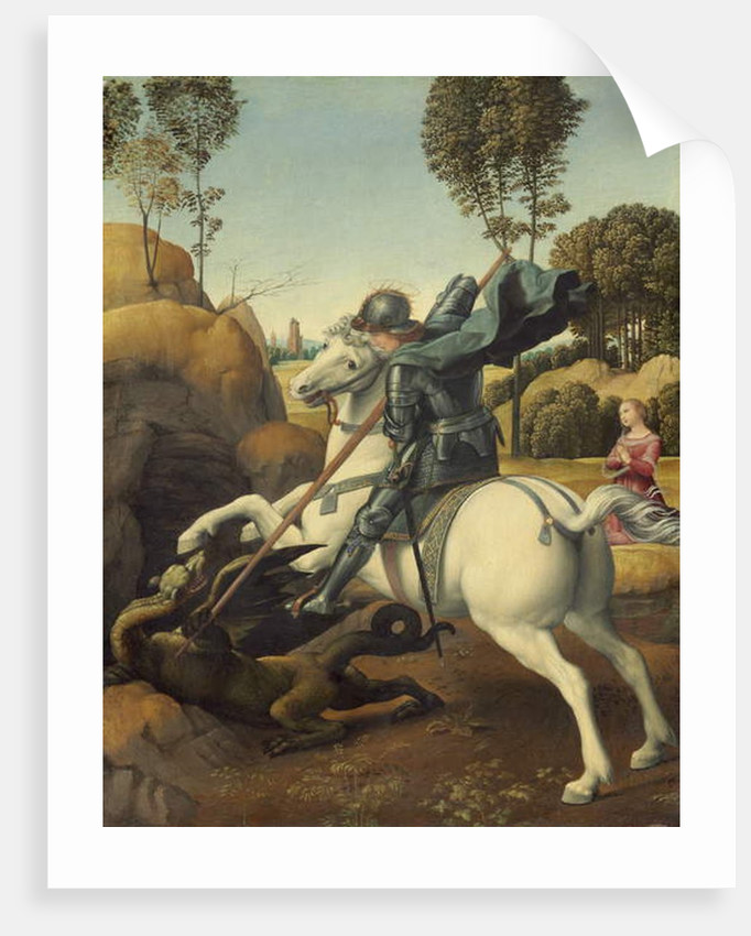 Saint George and the Dragon, c.1506 by Raphael