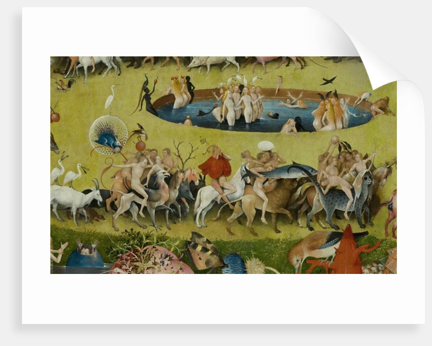 garden of earthly delights poster. The Garden Of Earthly Delights, 1490-1500 By Hieronymus Bosch Delights Poster L