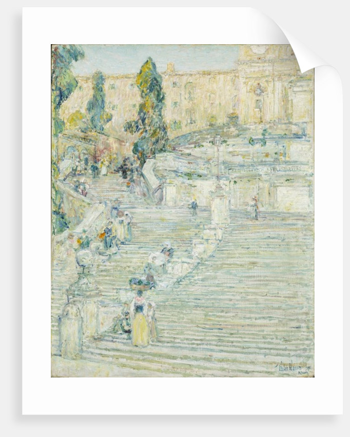Superb The Spanish Stairs, Rome, 1897 By Childe Hassam