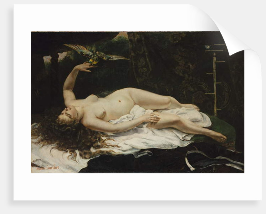 Woman with a parrot, 1866 by Gustave Courbet