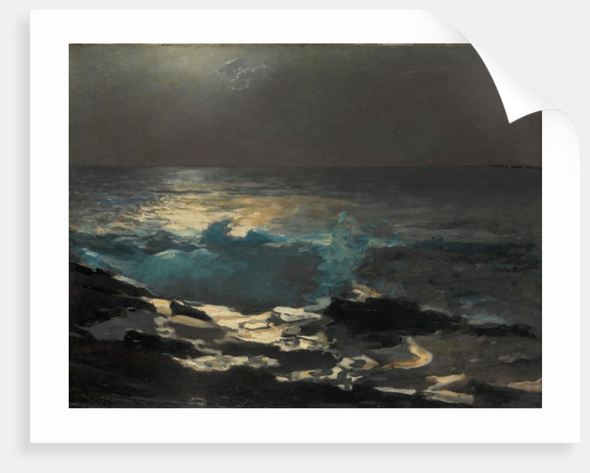 Moonlight, Wood Island Light, 1894 by Winslow Homer