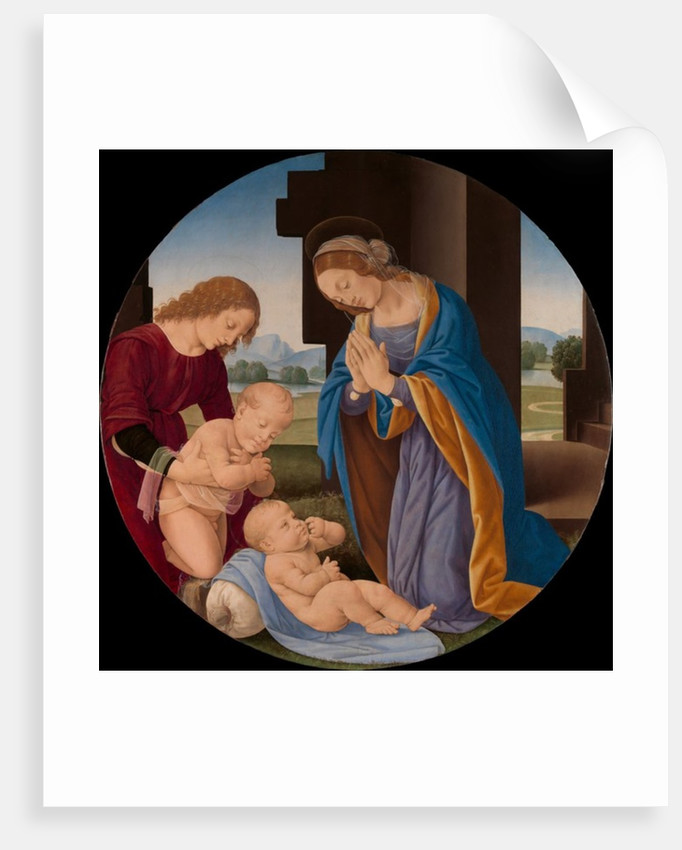 Madonna Adoring the Child with the Infant Saint John the Baptist and an Angel, c.1492 by Lorenzo di Credi
