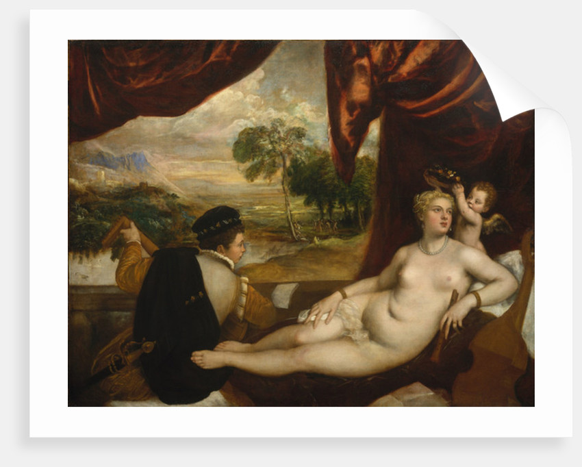 Venus and the Lute Player, c.1565-70 by Titian