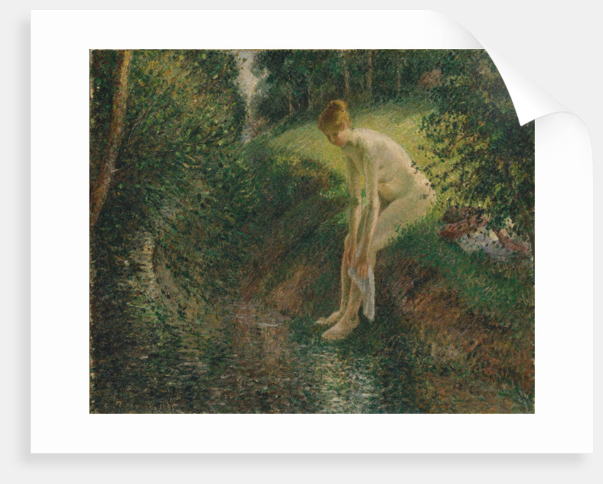 Bather in the Woods, 1895 by Camille Pissarro