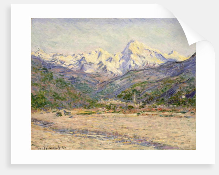The Valley of the Nervia, 1884 by Claude Monet