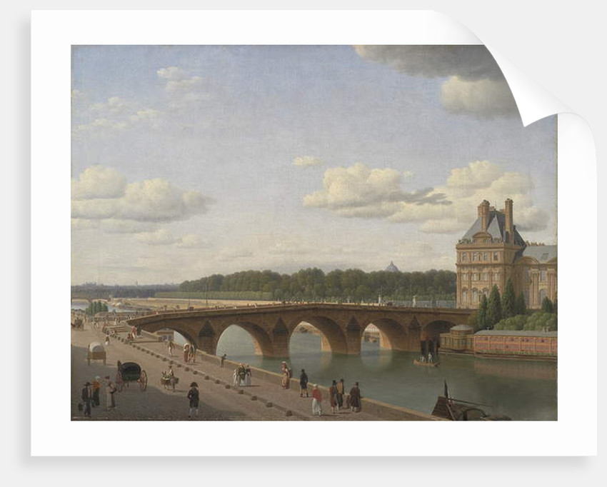 Pont Royal seen from Quai Voltaire, 1812 by Christoffer-Wilhelm Eckersberg