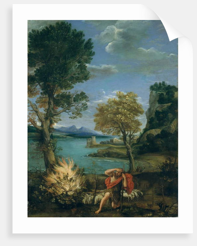 Landscape with Moses and the Burning Bush, 1610-16 by Domenichino (1581-1641)