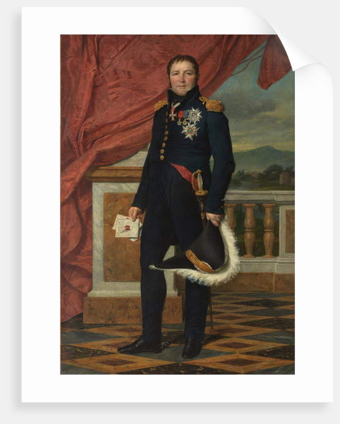 General Etienne-Maurice Gerard, 1816 by Jacques Louis David
