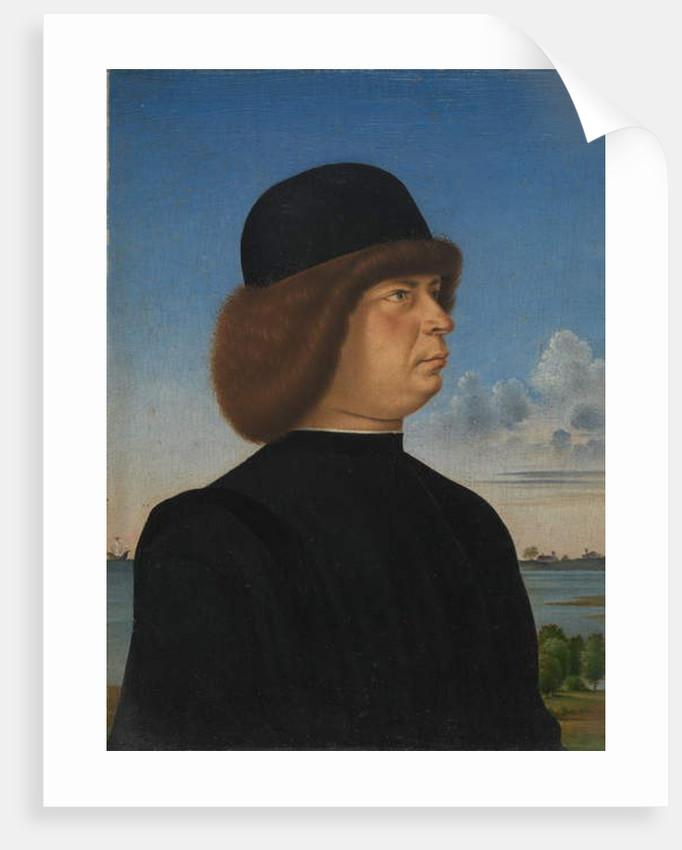 Portrait of Alvise Contarini, c.1485-95 by Jacometto Veneziano