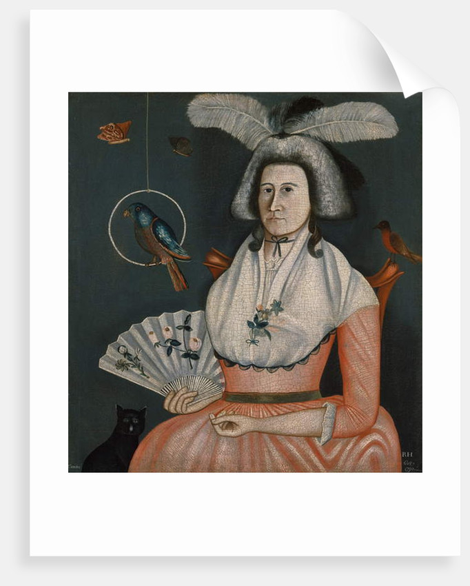 Lady with Her Pets, 1790 by American School