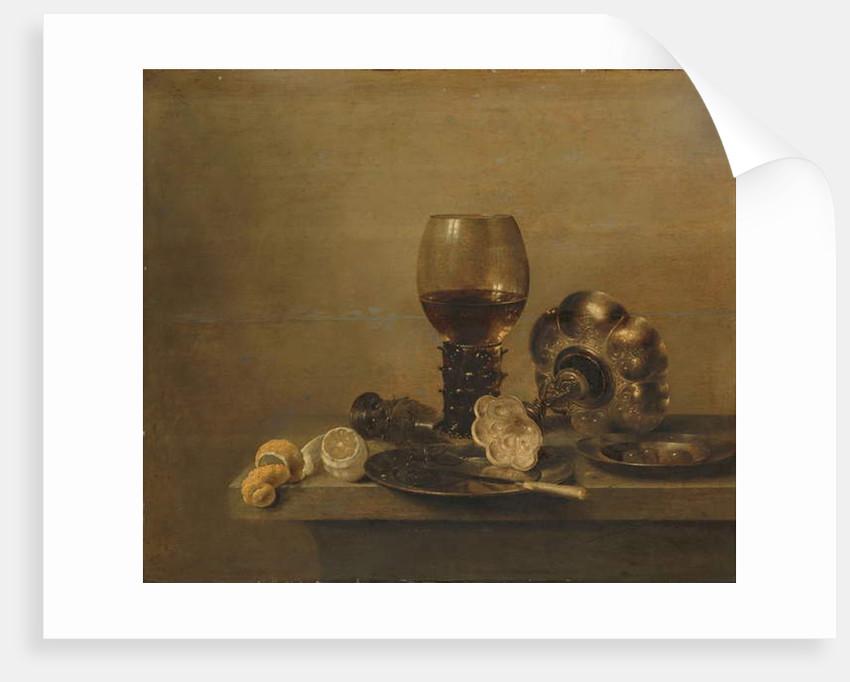 Still Life with a Broken Glass, 1642 by Willem Claesz. Heda