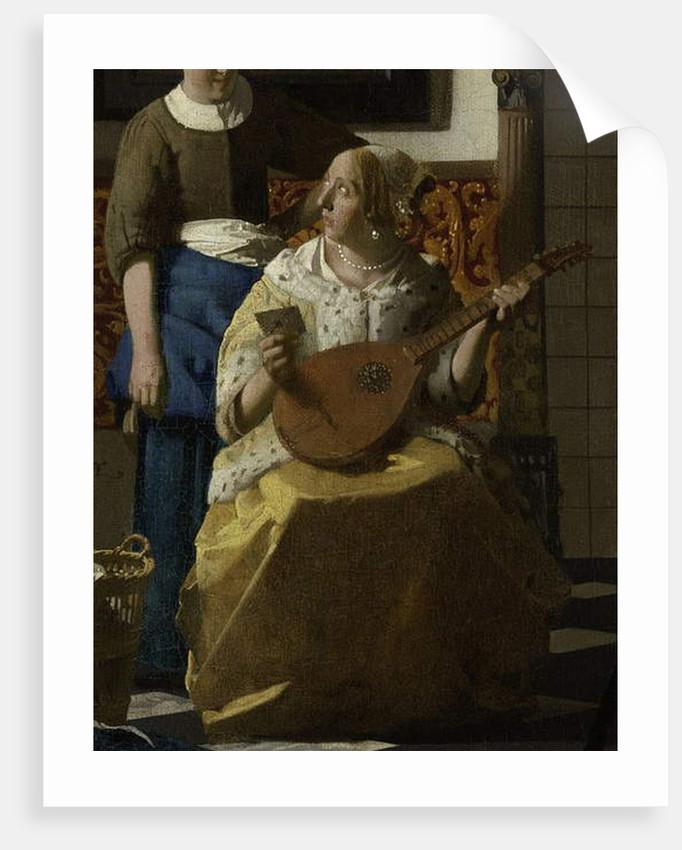 The Love Letter, c.1669-70 by Jan Vermeer