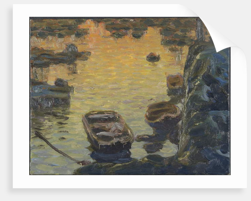 A Spring Night during the Fishing Season. Study from Lofoten, 1910 by Anna Katarina Boberg