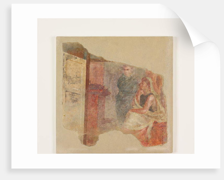 Wall painting fragment from the perisytle of the Villa at Boscoreale, c.50–40 B.C. by Roman Republican Period