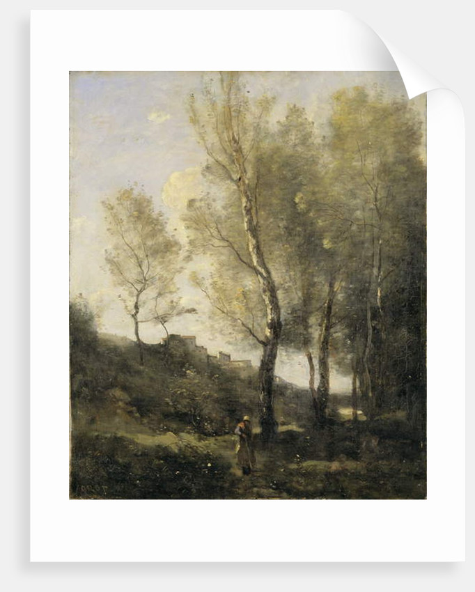 Landscape with Poplars by Jean Baptiste Camille Corot