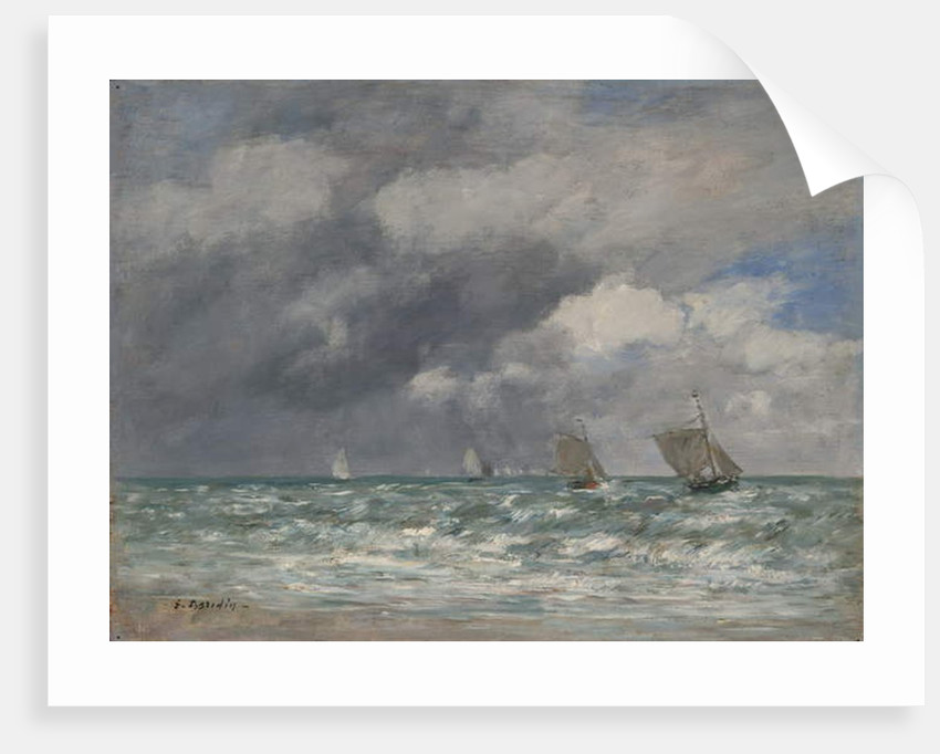 Sailboats near Trouville, c.1885-90 by Eugene Louis Boudin