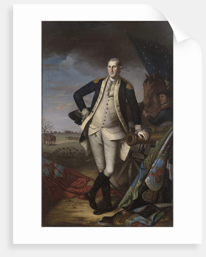 George Washington at the Battle of Princeton, 1781 by Charles Willson Peale