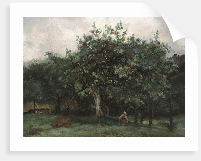 Landscape with Little Girl by Jean Baptiste-Antoine Guillemet