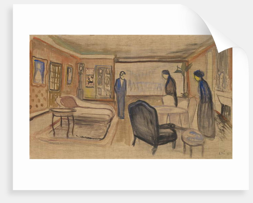 Scene of Ibsen's Ghosts, 1906 by Edvard Munch
