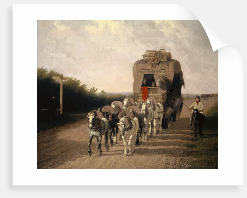 The Ludlow Carrier-Coach, 1801 by Jacques-Laurent Agasse
