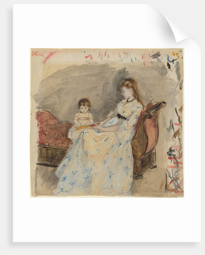 The Artist's Sister, Edma, with Her Daughter, Jeanne, 1872 by Berthe Morisot