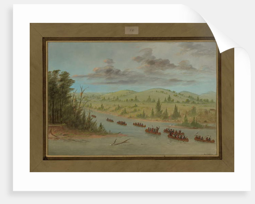 La Salle's Party Entering the Mississippi in Canoes, February 6th 1682, 1847-48 by George Catlin