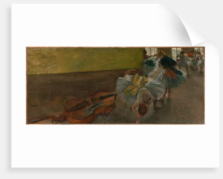 Dancers in the Rehearsal Room with a Double Bass, c.1882–85 by Edgar Degas