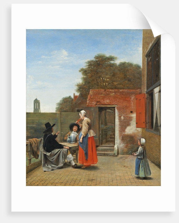 A Dutch Courtyard by Pieter de Hooch