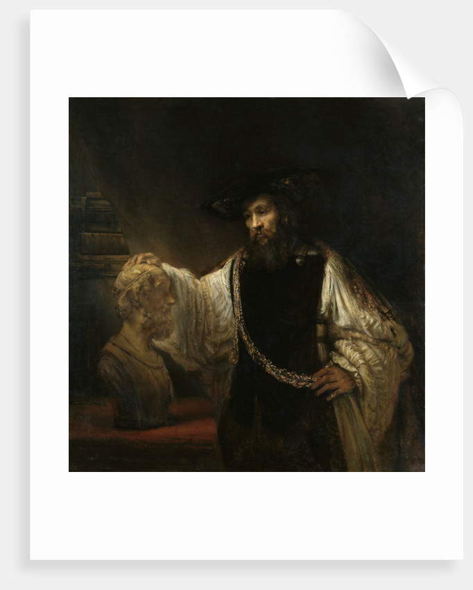 Aristotle with a Bust of Homer by Rembrandt Harmensz. van Rijn
