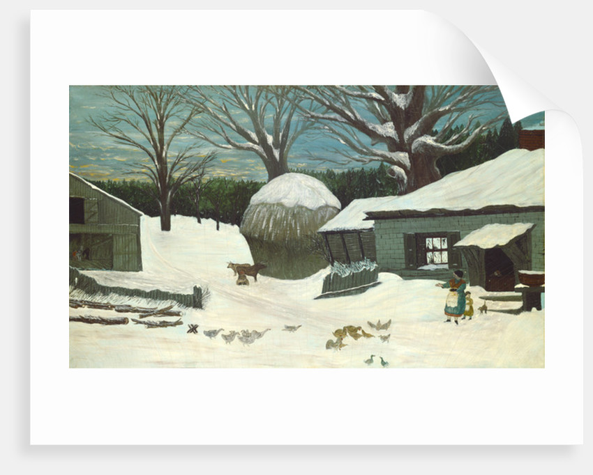 New England Farm in Winter by American School
