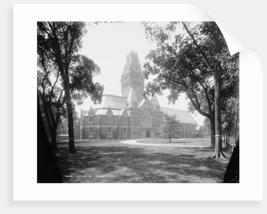 Memorial Hall, Harvard College by Detroit Publishing Co.