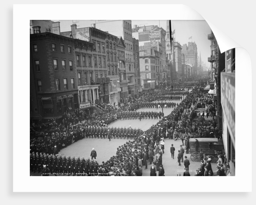 Policemen's parade, Fifth Avenue, New York by Detroit Publishing Co.