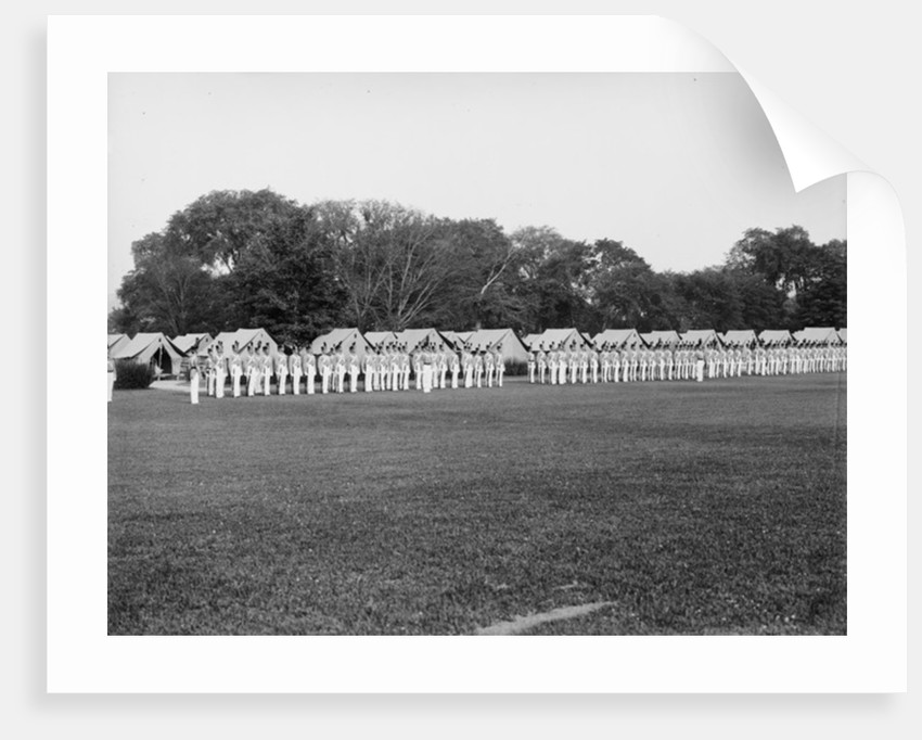 Dress parade, sunset gun and colors, West Point, New York by Detroit Publishing Co.