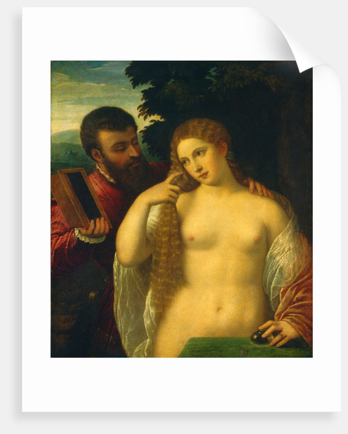 Allegory, Possibly Alfonso d'Este and Laura Dianti by Tiziano Vecelli Titian