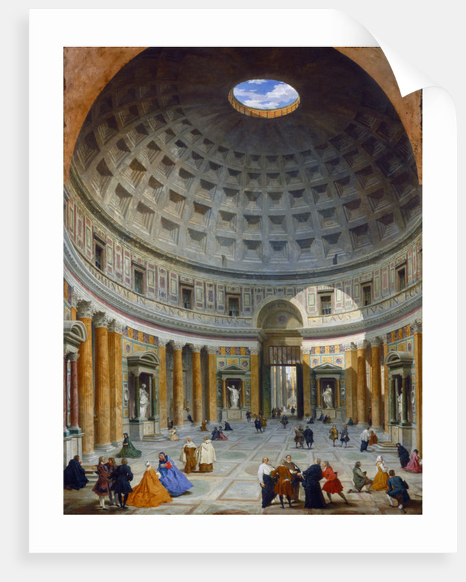 Interior of the Pantheon, Rome by Giovanni Paolo Pannini or Panini