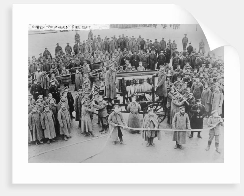 Prisoners' Fire Department, Guben by German Photographer