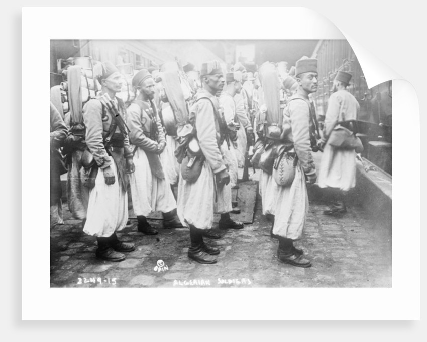 Algerian soldiers by French Photographer